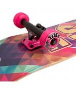 "Скейтборд Lboard fish cube pink/blue 31"""