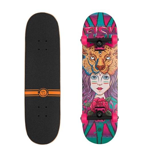 """Скейтборд Lboard fish girl pink 31"""""""