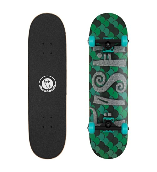 Скейтборд Lboard fish scale green 31""