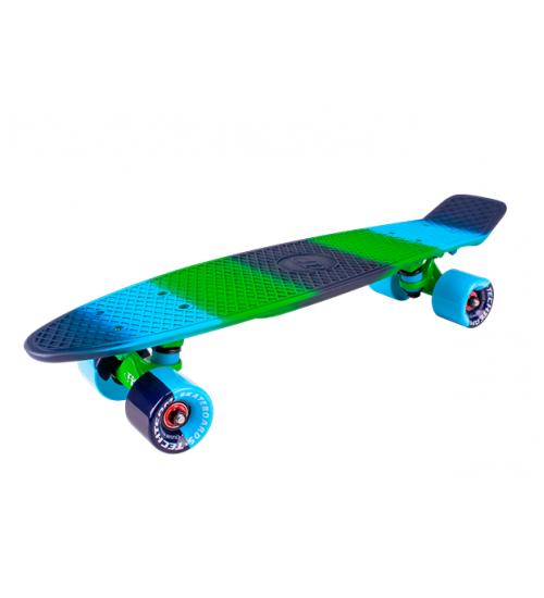 "Миниборд Tech Team Multicolor 22"" 2018 blue-green"