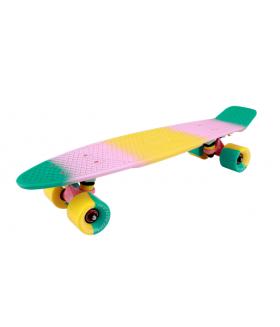 "Миниборд Tech Team Multicolor 22"" 2018 green-pink"