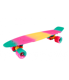 "Миниборд Tech Team Multicolor 22"" 2018 pink"