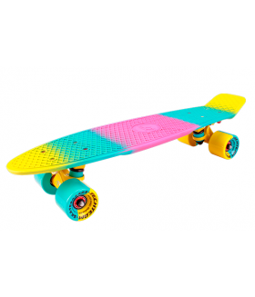 """Миниборд Multicolor 22"""" 2018 yellow-pink"""