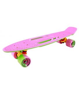 """Миниборд Shark 22"""" pink-green"""